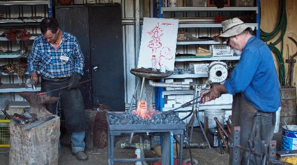 Ax blacksmithing