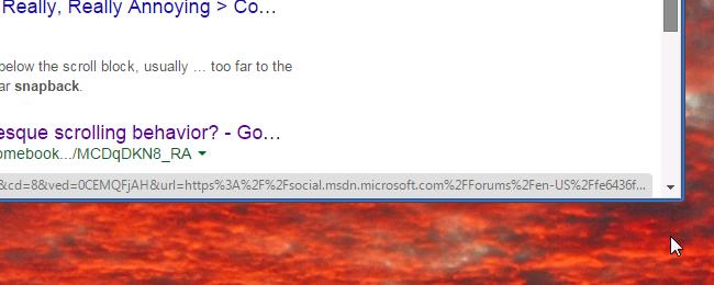 Windows 7 Chromium out snap-back