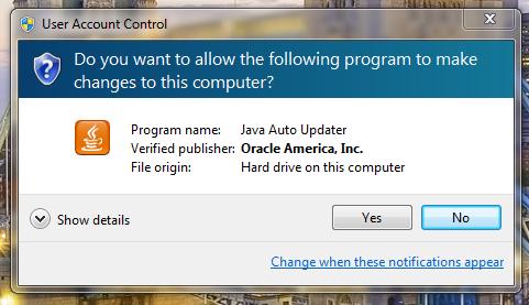 Microsoft Windows Java Auto Updater 1