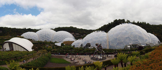 Cornwall, the Eden Project biomes
